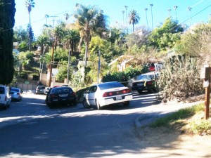 Police served search warrants in at least three locations in Montecito Heights. (EGP photo by Jacqueline Garcia)