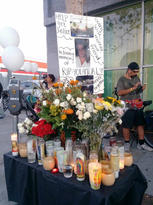 A vigil is held for a victim of a hit-and-run in Highland Park. (EGP photo archives)