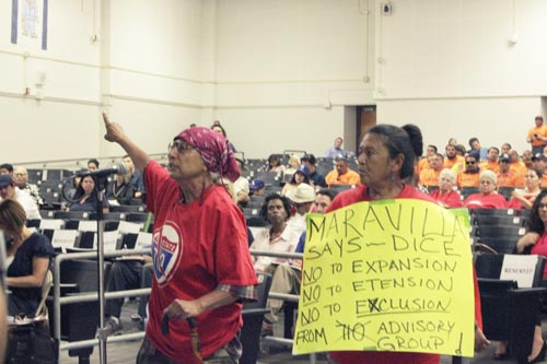 An  SR710 North public hearing gets heated. (EGP photo archives)