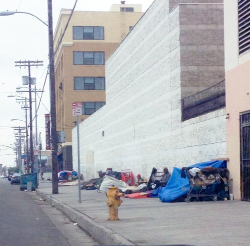 Los Angeles has experienced an increase in homeless living on the streets. (EGP photo archives)
