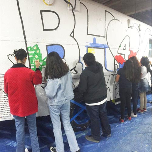 Teens share their artistic talents during the Boyle Heights Youth Talent Show. (Boyle Heights for Youth Campaign)