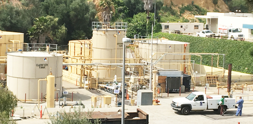 The SoCalGas facility in Montebello is in the process of being decommissioned. (EGP photo by Nancy Martinez)