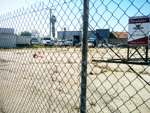 View of site for proposed retail development at Washington and Atlantic boulevards. (EGP photo by Jacqueline Garcia)