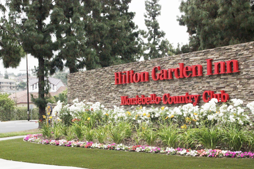 A new hotel will be built adjacent to the Montebello Golf Course property where a Hilton Garden Inn is currently located.  (EGP photo by Nancy Martinez)