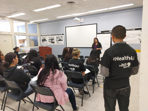 #Health4All campaign informs the immigrant community about their options for health care services. (EGP photo by Jacqueline Garcia)