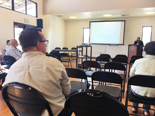 An Exide scoping meeting was held in Huntington Park Saturday Very few residents were in attendance. (EGP photo by Nancy Martinez)