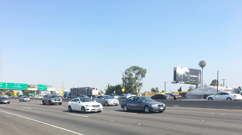 The I-5 Santa Ana and 710 Long Beach freeways is an area in the County in need of traffic relief. (EGP photo by Nancy Martinez)