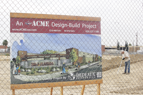 A new retail development located on the intersection of 25th and Alameda Street will bring new lunch options to Vernon. (EGP photo by Nancy Martinez)