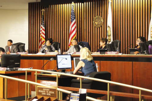 The Commerce City Council approves $58.8 M Budget for 2016-17 during Tuesday's meeting. (EGP photo by Nancy Martinez)