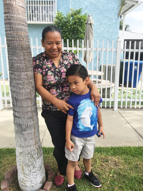 Minerva Belen says she spends at least an hour of quality time every day with her son Dereck. (Courtesy of Minerva Belen)
