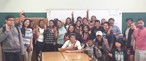 NAL Students on the last day of their Jaime Escalante Algebra course at Nightingale Middle School in July 2016. (Courtesy of LAUSD)