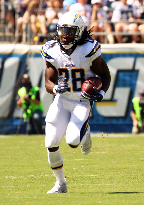 Melvin Gordon ran for 102 yards and scored 1 touchdown. Gordon has 159 yards and 3 touchdowns in the first two games of the season. (Photo by Fred Zermeno)