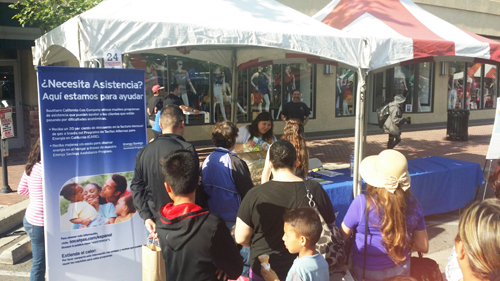 Representatives from SoCalGas inform customers about energy saving programs during a community event earlier this year. (Courtesy of SoCalGas)