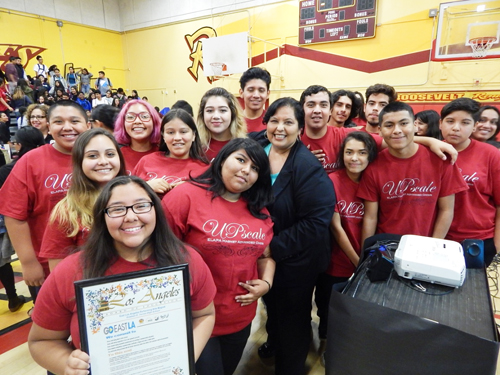 The GO East L.A. initiative kicked off its third year Tuesday at Roosevelt High School. (Courtesy of LA Unified School District)