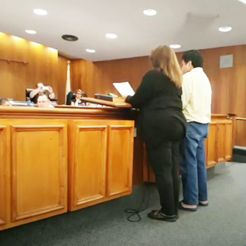 Members of MATCH90640 speak during the Oct. 12 Montebello Council Meeting.  (MATCH90640)