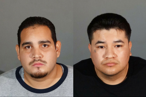 Juan Manuel Gonzalez, 37, and Arturo Avila, 30, were arrested last week in connection to multiple auto burglaries. (Montebello Police Department)