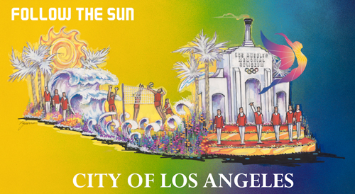 Rendering of the City of Los Angeles' entry into the 2017 Tournament Roses® Parade.