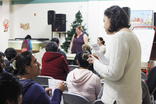 Immigration attorneys were at Salazar Park last week to answer questions about the citizenship process.  (EGP photo by Nancy Martinez)