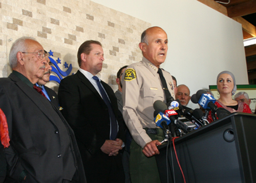 Former Los Angeles County Sheriff Lee Baca is accused of conspiring to commit and committing obstruction of justice from August to September 2011. (EGP Photo archive)