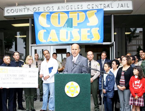Sheriff Baca @ Cops4Causes Press Conf.