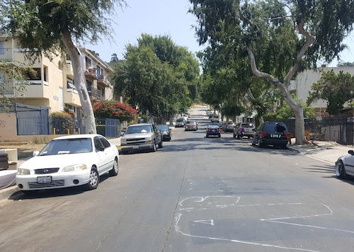 Mail service to residents on Drew Street was halted when a mail carrier was nearly shot. (EGP photo by Carlos Alvarez)
