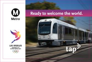 Metro issues LA 2014 Olympic-themed Tap Card.