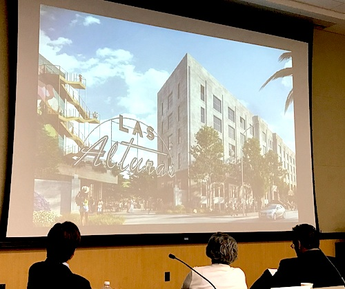 Three finalists hoping to win the bid to redevelop the vacant Lincoln Heights Jail, presented their projects during a public meeting on Aug. 13. (photo by Jay Cortez)