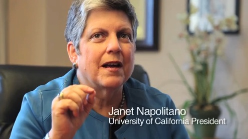 UC President Janet Napolitano, who was secretary of DHS from 2009 to 2013, spearheaded the Obama administration's creation of the DACA program in 2012. (New America Media)