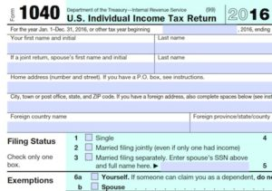1040 Tax Form WEB