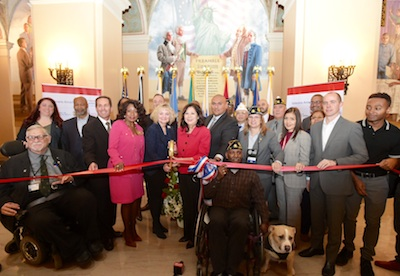 Los Angeles County opened a new job training and placement center for veterans Wednesday at Bob Hope Patriotic Hall in downtown Los Angeles. (Photo courtesy of Office of Sup. Hilda Solis)