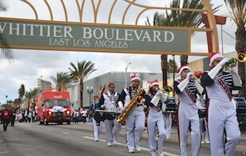 2016 East LA Christmas Parade on Whittier Boulevard attracted 70,000 spectators. (EGP Archive Photo)
