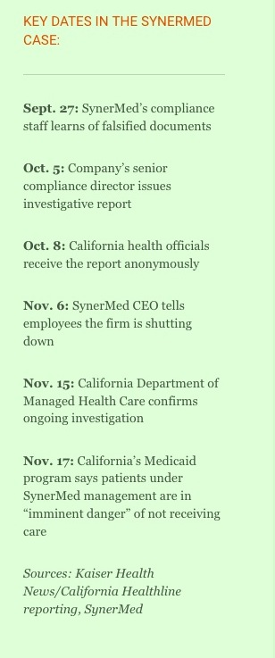 Key Dates Whistleblower Kaiser Health News