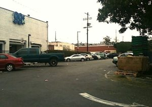 Housing could one day replace this parking lot near the 99 Cents Only store in Lincoln Heights. (EGP photo by B. Preciado)